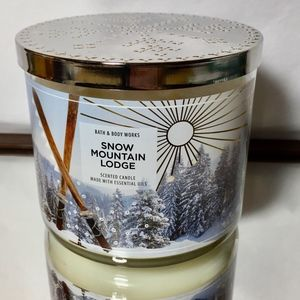 SNOW MOUNTAIN LODGE 3-Wick Candle